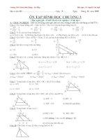 Ôn hình học 8 chương 3 ( Hay )