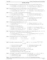 Bài tập tự luận Đường thẳng-Đường tròn-Elip