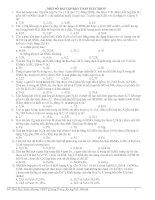 một số bài toán giải nhanh theo định luật hóa học