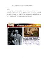 Hồ Chí Minh là hình ảnh sự khôn ngoan của đức Phật, lòng nhân từ của Chúa, tinh thần nhiệt tình cách mạng của Lê nin,