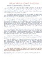 bài phát biểu của BTCB nhân ngày 8/3