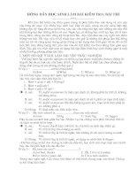 Huong dẫn học sinh kỹ năng làm bài kiểm tra/ bài thi