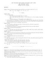 Đề và đáp án thi học sinh giỏi hóa 9