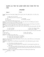 Bài tập hóa vô cơ ôn thi vào phổ thông(NA)