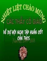 Tập huấn cán bộ cốt cán môn Toán tỉnh Tuyên Quang.