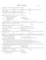 Đề thi thử  môn Hóa _đề 3(có đáp án)