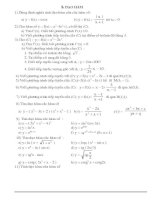 Các bài tập Khảo sát hàm số chương I lớp 12