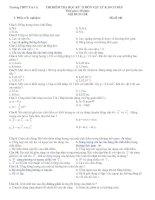 Đề thi và đáp án học kỳ II K.10 cơ bản năm học 2007_2008. Trường THPT Trà Cú.