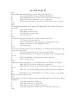 Đề thi trắc nghiệm môn lịch sử 12-3