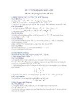 Đề thi thử ĐH khối A (đề 1)