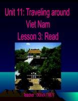 unit 11: Travelling ảound Viet Nam