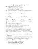 Đề thi thử ĐH phần dòng điện xc và mạch dao động(có đáp án)