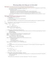 Phương pháp cân bằng Oxi hóa khử