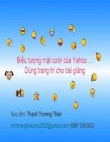 Trang trí cho bài giảng: Yahoo smiles