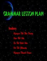 shape of grammar lesson plan
