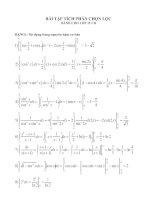 Bài tập Tích phân đổi biến dành cho 12CB