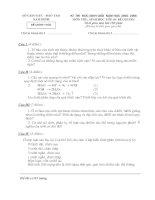 Một số đề thi HSG Môn Sinh 9 Tỉnh Nam Đinh