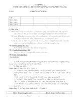 Trọn bộ giáo án hình học 11(Ban cơ bản)