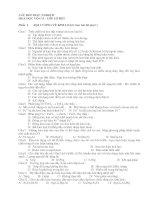 Bài tập trắc nghiệm phần kim loại lớp 12
