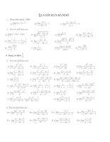 Giới hạn hàm số theo cấu trúc mới - Sưu tầm