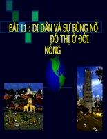 Bài 11. Di dân và sự bùng nổ đô thị ở đới nóng