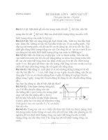 Đề thi học sinh giỏi vật lý 8