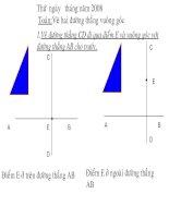 Vẽ hai đường thẳng vuông góc