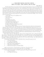 Chuyên đề thơ mới trong chương trình Ngữ văn THPT