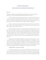 PHÂN TÍCH THỊ TRƯỜNG NGƯỜI TIÊU DÙNG VÀ HÀNH VI CỦA NGƯỜI MUA