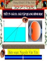Tiết 57-Bài 51 Bài tập quang hình học