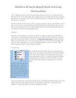 Thiết kế sơ đồ chuyển động để thuyết trình trong powerpoint