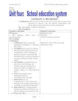 lesson plan unit 4( grade 12) chuẩn