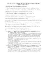 PHƯƠNG ÁN LẮP ĐẶT ĐIỀU HÒA KHÔNG KHI CHO PHÒNG SEVER KHÁCH HÀNG TẦNG 11