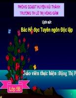 LS5: Bác Hồ đọc Tuyên ngôn Độc Lập