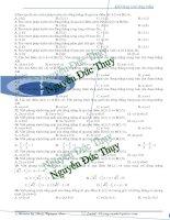 105 câu trắc nghiệm phương trình đường thẳng trong mặt phẳng