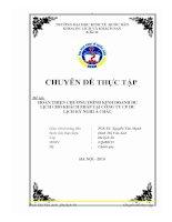 Hoàn thiện quy trình kinh doanh chương trình du lịch cho khách Pháp ở công ty CP du lịch kỳ nghỉ Á Châu