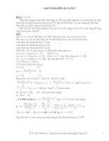 Giải Đề thi HSG Vật lý 9 (.5Y)