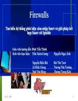 Firewalls - Tìm hiểu hệ thống phát hiện xâm nhập Snort và giải pháp kết hợp Snort với Iptable
