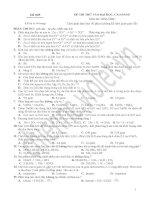 Đề thi thử đại học + Đáp án (Đ 005)