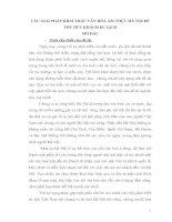 CÁC GIẢI PHÁP KHAI THÁC VĂN HÓA ẨM THỰC HÀ NỘI ĐỂ THU HÚT KHÁCH DU LỊCH