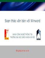 Giáo trình Word - Tin học cơ sở V2.0