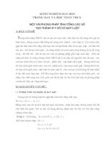 Một vài phương pháp tính tổng các số  tạo thành dãy số có quy luật