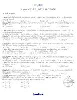 BT Chuyển Động Tròn Đều Nâng cao ( TN + TL + Có đáp án)