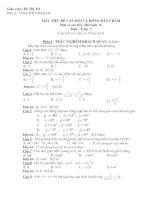 Ngân hàng câu hỏi toán 9