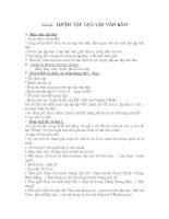 Tiết 16: Luyện tập tạo văn bản