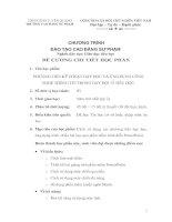 Đề cương chương trình học - PHƯƠNG TIỆN KỸ THUẬT DẠY HỌC VÀ ỨNG DỤNG CÔNG NGHỆ THÔNG TIN TRONG DẠY HỌC Ở TIỂU HỌC
