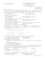 Đề kiểm tra 1 tiết trắc nghiệm 100%_mã đề 357.