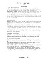 Ôn tập Ngữ Văn 7(Làm Văn)