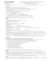 Đề HSG 12 ( 3 năm ) - Chuyên đề 4