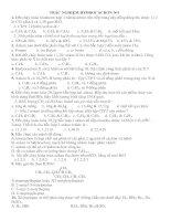 Trắc nghiệm Hiđrocacbon no cực hay